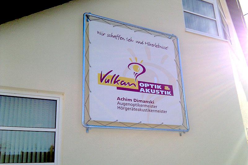 PVC-Banner mit Rahmen